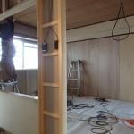 SPACE 3の木工事は完了間近です。
