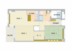 303号室「橙~daidai~」間取図