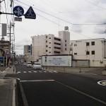 柳町交番前交差点から、早苗町通りを250M