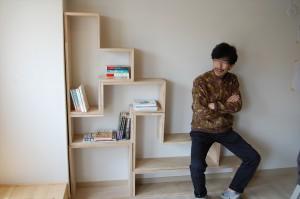 テトリス本棚&管理人神田さん_403